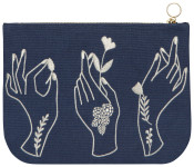 Show Of Hands Large Zipper Pouch
