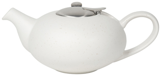 Pebble White Flecks Teapot <br> 4-cup