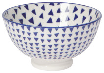 Blue Triangles 4 in Bowl