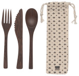 Ebony On The Go Cutlery Set