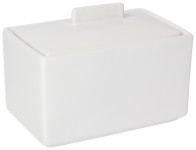White 1 lb Butter Dish