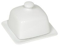 White Square Butter Dish