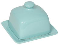 Eggshell Square Butter Dish