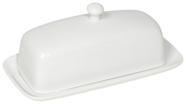 White Rectangular Butter Dish