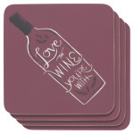 Love The Wine You'Re With Cork-Backed Coasters <br> Set of 4