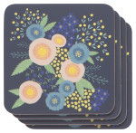 Rosa Cork-Backed Coasters <br> Set of 4
