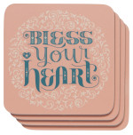 Bless Your Heart Cork-Backed Coaster Set