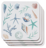 Coastal Treasures Cork-Backed Coaster Set