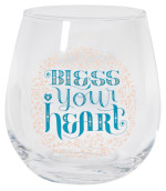 Bless Your Heart Wine Glass