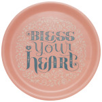 Bless Your Heart Willow Veneer Round Tray