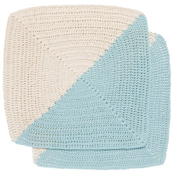 Angle Crochet Dishcloths <br> Set of 2 Sky