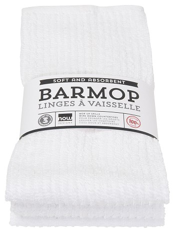 White Barmops Large <br> Set of 3