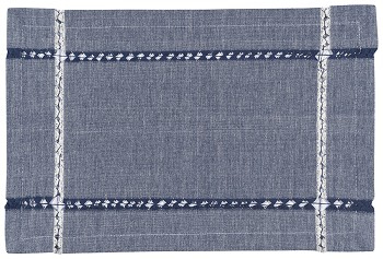 Tangier Knotted Woven Placemat Blue