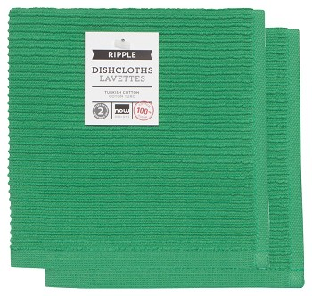 Greenbriar Ripple Dishcloths <br> Set of 2