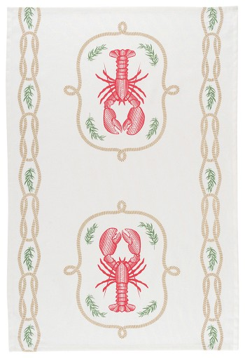 Lobster Catch Printed Dishtowel