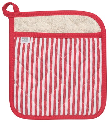 Narrow Stripe Red Superior Potholder